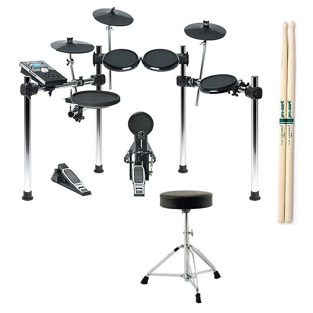 Alesis FORGE KIT 8-Piece Electronic USB MIDI Drum Set w/ FREE Throne +  Sticks
