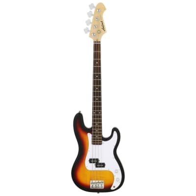 Aria Pro II STB-PB 4-String Precision Style Electric Bass Guitar, 3 Tone Sunburst for sale