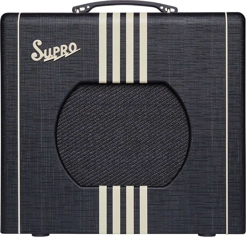 Supro 1820RBC Delta King 10 5W 1x10'' Guitar Tube Combo Amplifier Black & Cream