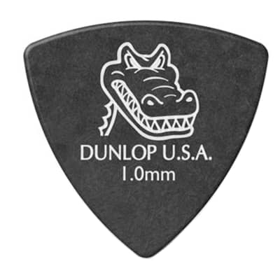 Dunlop 572P100 Gator Grip Small Triangle. 1mm Guitar Picks (6-Pack)
