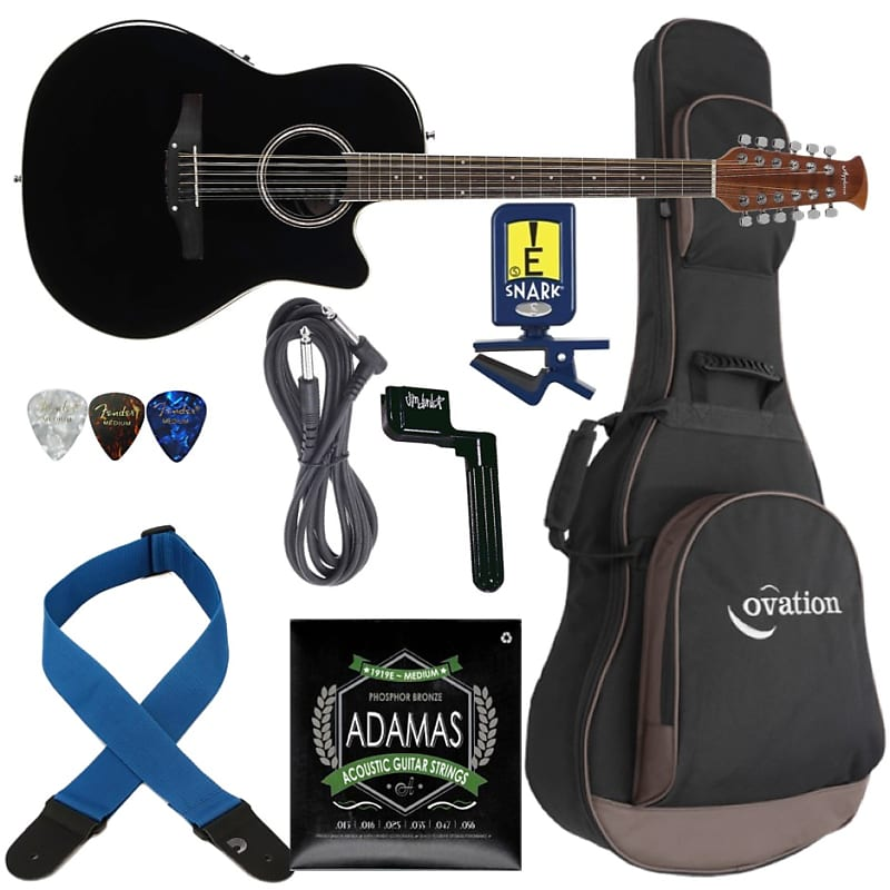 503ee7a0dce36 Ovation Applause 12 String Guitar AE2412II-5/ FREE Gig Bag, Strings, Strap,  Tuner & Winder