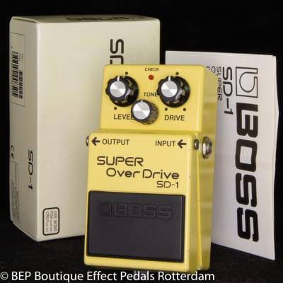 Boss SD-1 SUPER Overdrive 1991 s/n ED28835 with JRC4558DD Op Amp, The Edge of U2