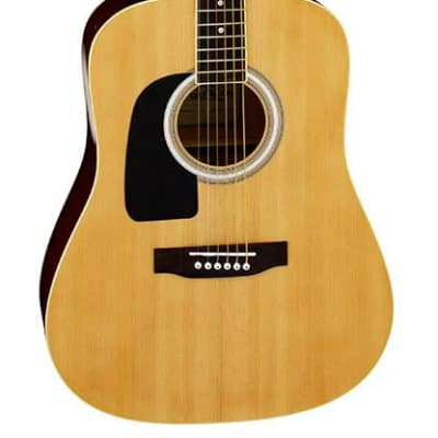 Aria AW-15 Left Handed Dreadnought Acoustic Guitar in Natural for sale