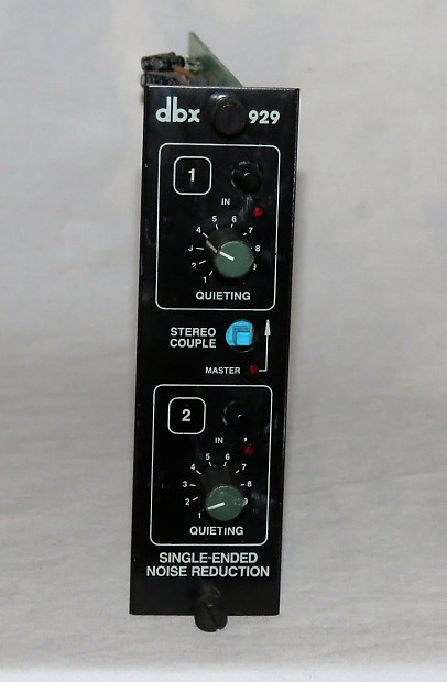 DBX 929 Single Ended Noise Reduction Processor Module For The 900 900a FS900 Series Rack