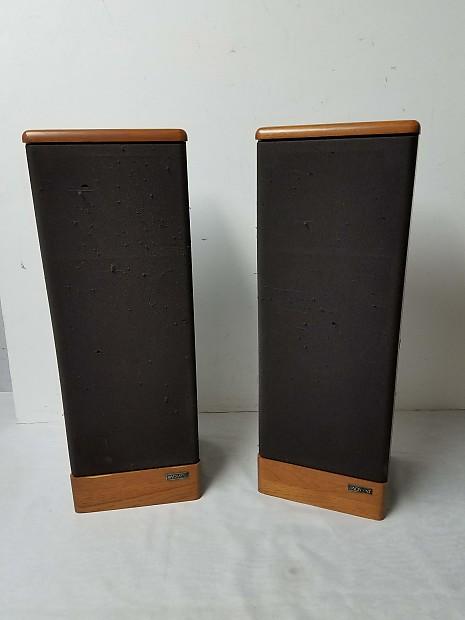 vintage advent prodigy tower speaker pair reverb. Black Bedroom Furniture Sets. Home Design Ideas