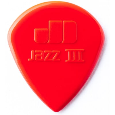Dunlop 47P3N Nylon Jazz III 1.38mm Sharp Point-Tip Guitar Picks (6-Pack)