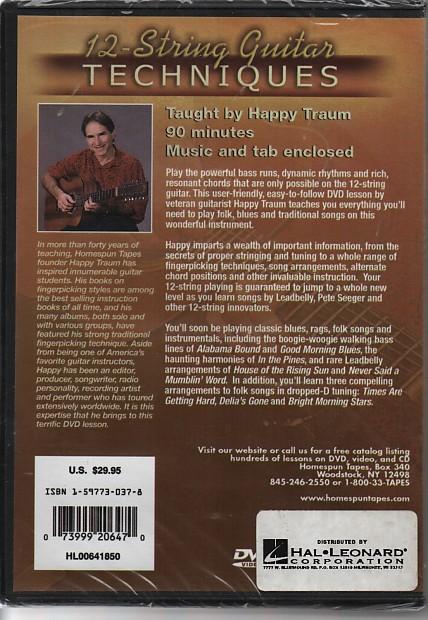Lesson Dvds 12 String Guitar Techniques Artist Happy Reverb
