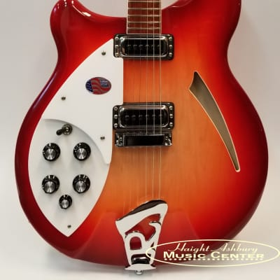 Rickenbacker 360 Left Handed Electric Guitar Fire Glo Deluxe Thinline, Semi-Acoustic Hollow Body W/Case for sale