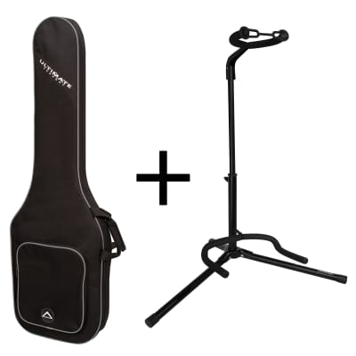 Ultimate Support BUNDLE - USPB-EB Guitar Soft Case and JS-TG101 Tubular Guitar Stand