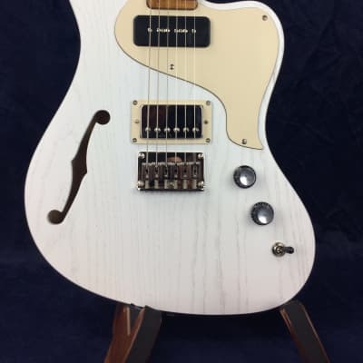 PJD Guitars St John Standard in White with F-Hole for sale