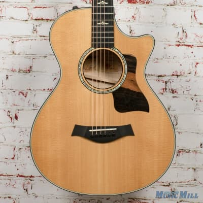 Taylor 612ce 12 Fret V-Class Acoustic Electric Guitar Natural x0057