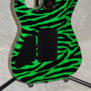 2019 USA Charvel Custom Shop San Dimas SD1 1H in slime green zebra with case