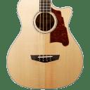 D'Angelico Premier Mott Acoustic-Electric Bass Guitar Natural