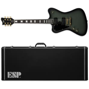 ESP LTD Sparrowhawk LH Military Green Sunburst Satin Bill Kelliher Left-Handed Guitar + Hard Case for sale