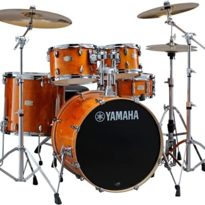 "Yamaha Stage Custom Birch 5-Piece Shell Pack with 22"" Bass Drum  Honey Amber"
