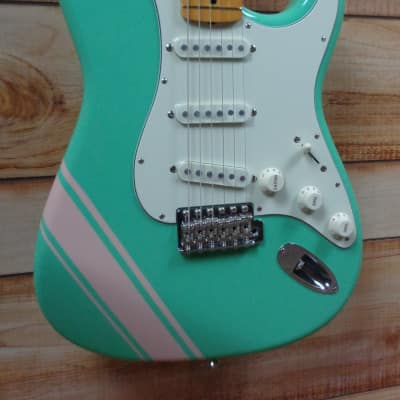 Used Fender® FSR Traditional '50s Stratocaster® w/Competition Stripe Surf Green w/Gigbag for sale
