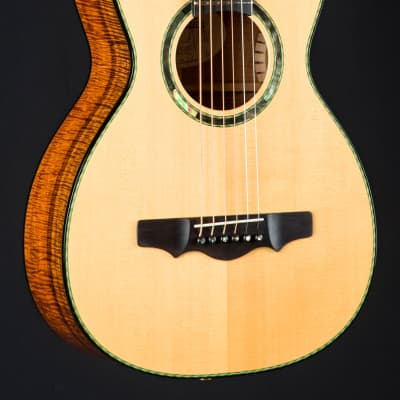Dave King Parlor Koa and European Spruce used (2005) for sale