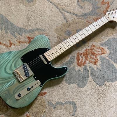 Virok Guitars (VGT, The Guitar Rescue) Very Light Fern Green Catalpa Telecaster (McNelly, Kluson) for sale