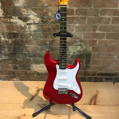 Jay Turser Stratocaster Style Electric Guitar Metalic Red for sale