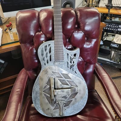 Bluebird 56  Electric / Acoustic Resonator - Gambler Vintage , 2012 to 2018 in Vintage Aluminum for sale