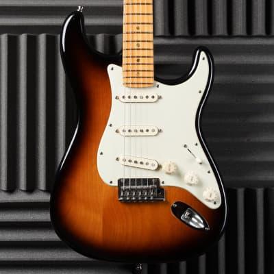 Fender American Deluxe Stratocaster V-Neck 2008 Sunburst Bareknuckles for sale