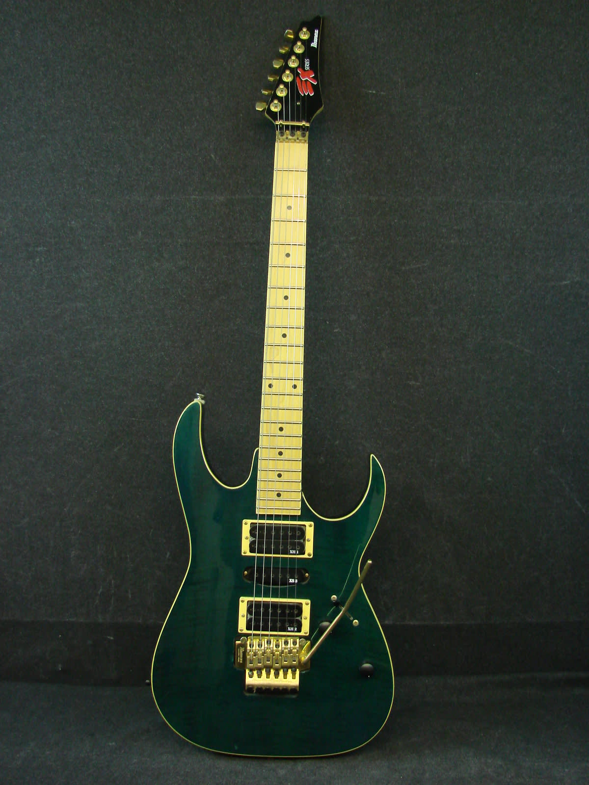 1992 Ibanez EX Series Green Electric Guitar w/Hard Case | Reverb