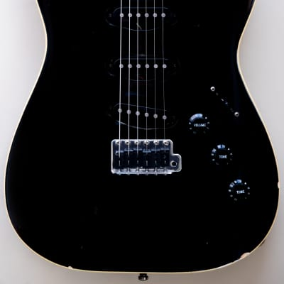 2004 Fender Japan Aerodyne Limited Edition Stratocaster Black Matching headstock USA pickups CIJ for sale