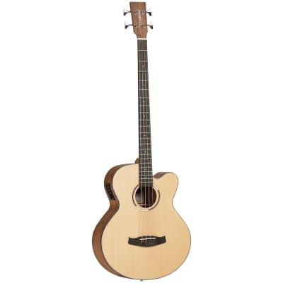 Tanglewood TDBTABBW Discovery Exotic Acoustic Bass C/E - Black Walnut for sale