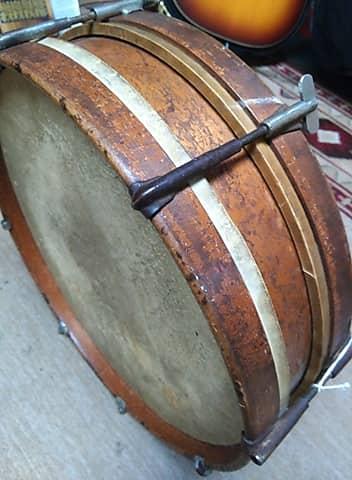 unique 1900 wooden snare drum with calf skin head reverb. Black Bedroom Furniture Sets. Home Design Ideas