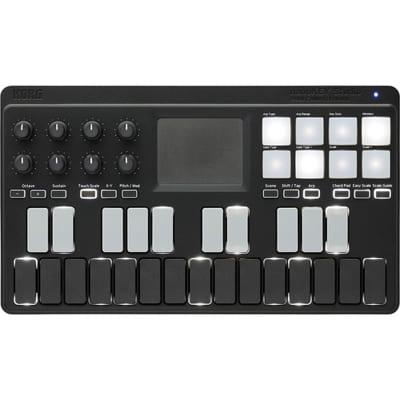 Korg nanoKey Studio Mobile 25-Key USB Bluetooth MIDI Keyboard Black with Drum Pads