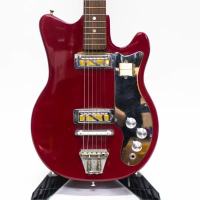 Vintage Orpheum Japanese Electric Guitar with Gold Foil Pickups - Red for sale