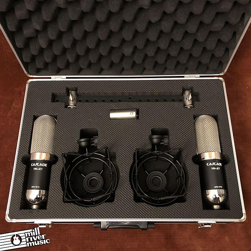 Cascade Vin-Jet Long-Ribbon Microphone Stereo Pair Lundahl Transformers w/ Case