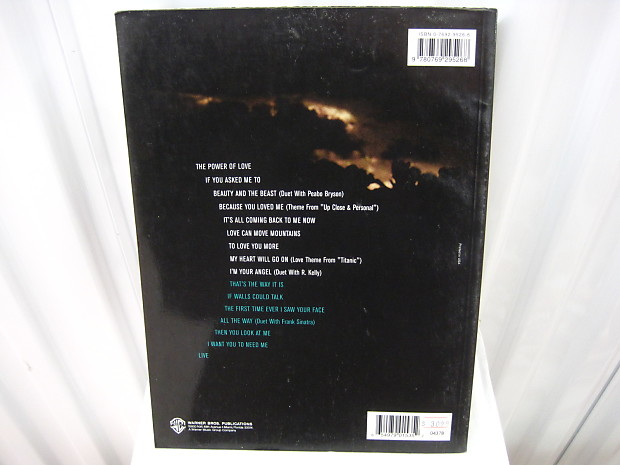 Celine Dion All the Way A Decade of Song Sheet Music Book Piano Vocal Chords