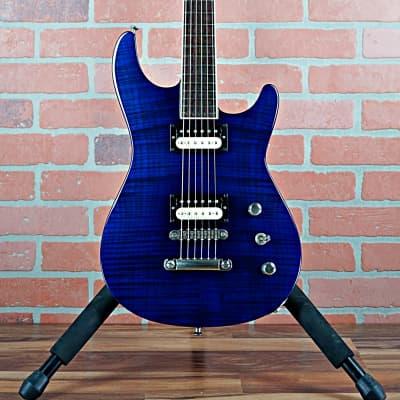 Jackson USA Custom Shop SLS Soloist Flame Maple Top Indy Blue 1997 OHSC for sale