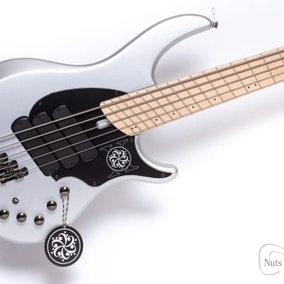 IN STOCK! - Dingwall Limited Edition NG-3 'Darkglass' Five String in Silver Metallic w/ Gig Bag for sale