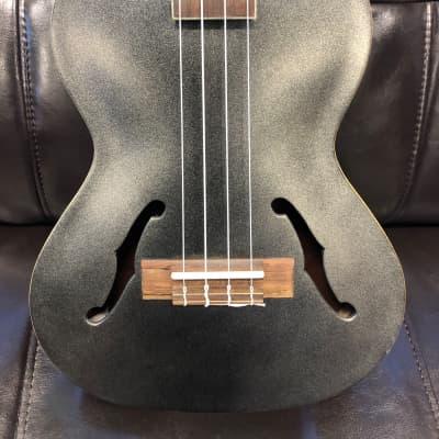 Kala KA-JTE/MTB Archtop Acoustic/Electric Tenor Ukulele w/ Pickup Metallic Black