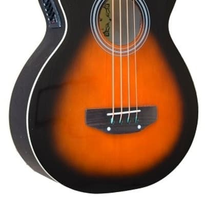 NEW Dark Vintage Sunburst MADERA AB470CE Acoustic Bass Guitar With Pickup for sale