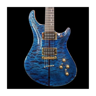 Warrior Guardian Electric Guitar in Royal Blue 5A Quilted Maple Top for sale