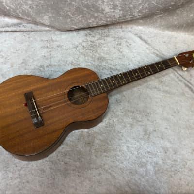 Vintage Harmony baritone ukulele uke with chipboard case for sale