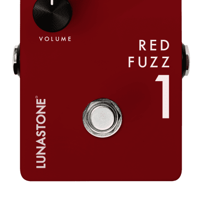 Lunastone Redfuzz 1 Pedal Red for sale