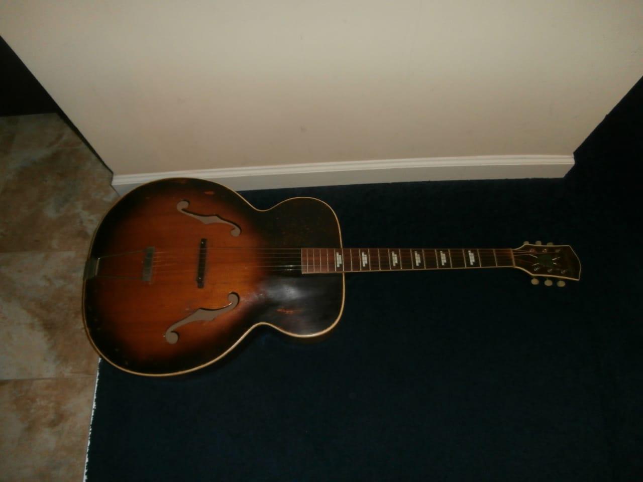 vintage 1950 39 s silvertone archtop acoustic guitar reverb. Black Bedroom Furniture Sets. Home Design Ideas