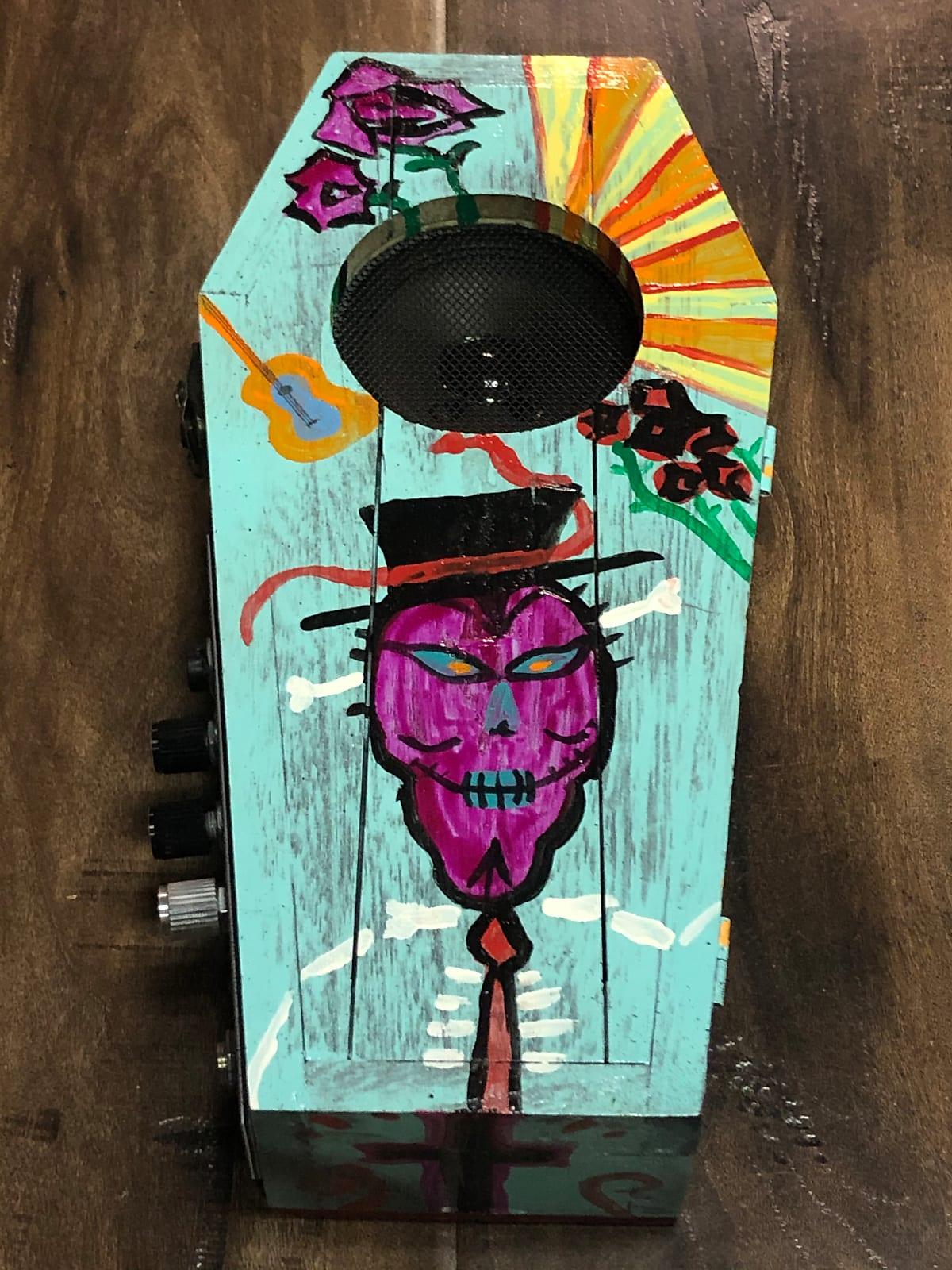 Margasa Coffin Mini Amp 2020 Día de Los Muertos Blue