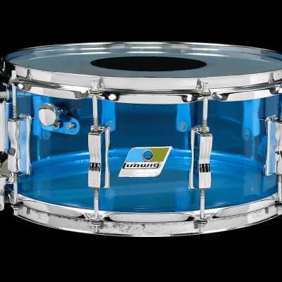 "Ludwig No. 415 Vistalite Super-Sensitive 6.5x14"" Acrylic Snare Drum 1970s"