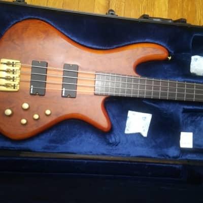 Schecter Stiletto Studio-4 FL Active Fretless 4-String Bass Honey Satin (with Hard Case)