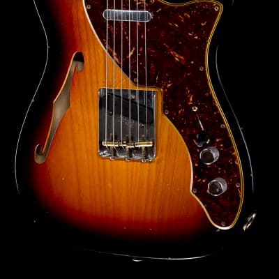 Fender Custom Shop 2020 LTD 60's Tele Thinline Journeyman Relic Aged 3-Color Sunburst (795) for sale