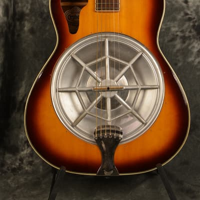 Orpheum Resonator Acoustic Round neck Slide Guitar Sunburst w FAST Same Day Shipping for sale