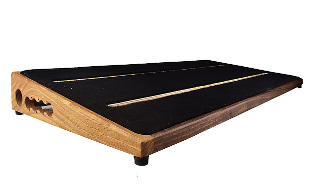 ruach kashmir 4 extra large wood pedal board and case for reverb. Black Bedroom Furniture Sets. Home Design Ideas