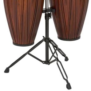 "Latin Percussion LP646NY-CMW City Series 10"" / 11"" Conga Set w/ Stand"