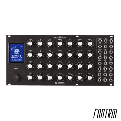 Synthesis Technology E370 Quad Morphing VCO - Black (Pre-Order)