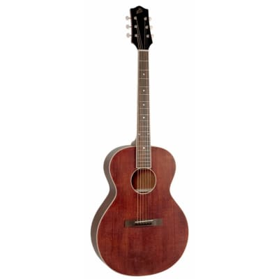 The Loar LH-204-BR Brownstone Small Body Acoustic Guitar, Satin Brown